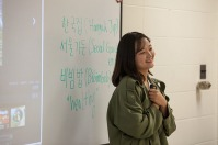 As part of the International Year of South Korea, students from Konkuk University made a presentation to Dr. Jieyoung Kong's class on Sept. 29.