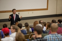 U.S. Sen. Rand Paul spoke to WKU students on Oct. 3.