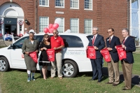 Service One Credit Union co-sponsored a van with the WKU Heartland Alumni Chapter for use at WKU's Elizabethtown-Fort Knox Campus.
