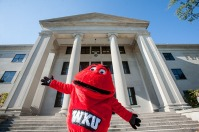 Big Red around campus