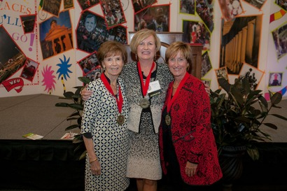WKU recognized its top volunteers at the annual Summit Awards on Oct. 20. Distinguished Service Medals were presented to (from left) Carol Wedge, Melissa Dennison and Julie Ransdell. (WKU photo by Bryan Lemon)