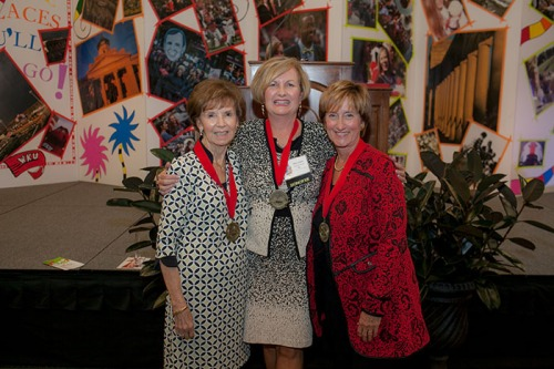 WKU recognized its top volunteers at the annual Summit Awards on Oct. 20. The 2016 recipients Distinguished Service Medals to recognize the service of the University's top volunteers were presented to Melissa Dennison of Glasgow, Julie Ransdell of Bowling Green and Carol Wedge of Bowling Green.