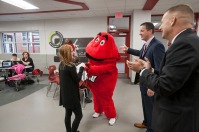 WKU Admissions and Big Red surprised some students at Daviess County and Apollo high schools with their WKU acceptance letters on Oct. 25. The students were Christian Velez, Dixie Browning and Kayla Selby at Daviess County; and Victoria Gossett, Jada Hall and Martina Boonyarungsrit at Apollo.