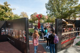 Fusion's As American As exhibit visited WKU on Oct. 26.