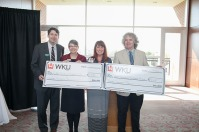 The WKU Sisterhood met Oct. 28 and awarded funds to two projects -- WKU Sisterhood Research Internship Grant (RIG) -- Derick Strode and Cheryl Kirby-Stokes; and Hardin Planetarium Star Chamber Refurbishment -- Richard Gelderman