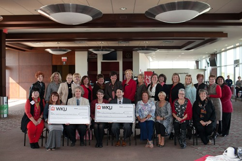 The WKU Sisterhood met Oct. 28 and awarded funds to two projects -- WKU Sisterhood Research Internship Grant (RIG) -- Derick Strode and Cheryl Kirby-Stokes; and Hardin Planetarium Star Chamber Refurbishment -- Richard Gelderman