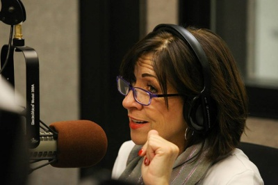 Barbara Deeb is the new local host of All Things Considered on WKU Public Radio. (Photo by Abbey Oldham)