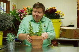 "Colin Waters plays Seymour in the WKU production of ""Little Shop of Horrors."""