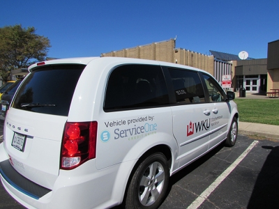 Service One Credit Union has co-sponsored a van with the WKU Heartland Alumni Chapter for use at WKU's Elizabethtown-Fort Knox Campus. A dedication ceremony will held Oct. 12.