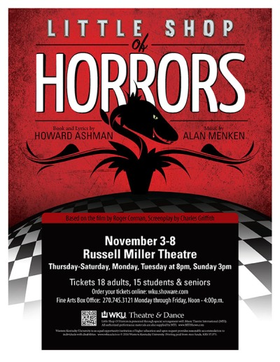 "The WKU Department of Theatre and Dance will present ""Little Shop of Horrors"" Nov. 3-8."