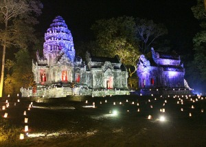 An evening visit to the Thomannon temple complex at Angkor Thom, Cambodia