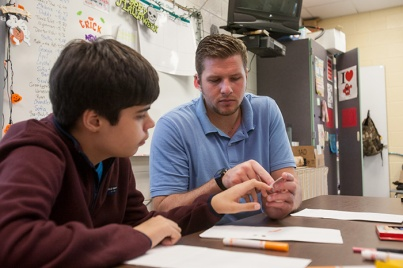 WKU graduate Hendrix Brakefield teaches at Bowling Green Junior High School.