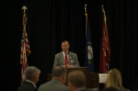 WKU President Gary A. Ransdell spoke at the Five-County Honors Luncheon on Nov. 1.