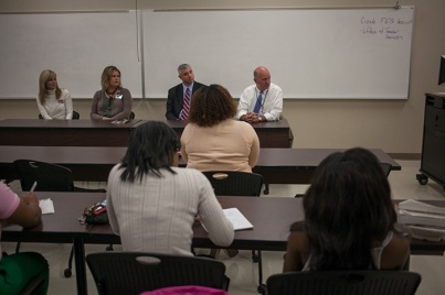 WKU education majors met with local principals on Nov. 1 for a discussion about preparing for jobs as teachers.