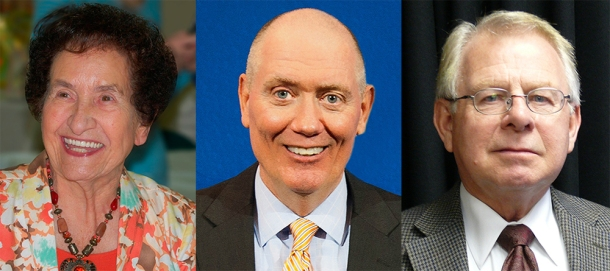 Members of the ninth class of the Governor Louie B. Nunn Kentucky Teacher Hall of Fame -- (from left) Opal T. Sibert, Ron Skillern and Joe Westerfield -- will be inducted during a ceremony scheduled for March 8 in Frankfort.