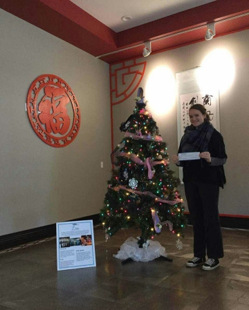 WKU's chapter of the National Dance Education Organization won the Confucius Institute at WKU's 2016 Tree Decoration Contest. Kelby Auten, chapter president, received the $1,000 grand prize.