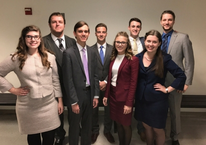 "WKU Forensics Team members won team sweepstakes at Ohio State University's ""Holiday Frolic."""