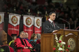 Austin Hatfield was recognized as the Ogden Foundation Scholar. (WKU photo by Bryan Lemon)