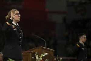 Six ROTC cadets were commissioned during the ceremonies. (WKU photo by Bryan Lemon)