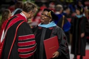 Denise Perdue was among 10 graduates of the Doctor of Education in Educational Leadership program. (WKU photo by Bryan Lemon)
