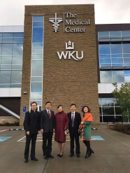 The delegation from Xiyuan Hospital visited The Medical Center-WKU Health Sciences Complex.