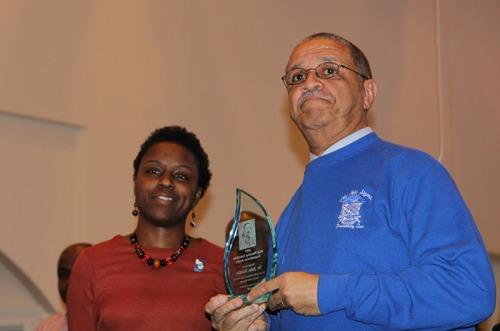 WKU professor John Hardin received the Humanitarian Award on Jan. 16.