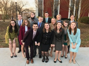 Fourteen members of the WKU Forensics Team competed Feb. 6-7 at Murray.