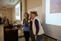 """Olympic gold medalist Claire Donahue and Dr. Betsy Schoenfelt presented """"Psychological Sciences Goes to the Olympics — and Wins Gold!"""" on Feb. 1."""