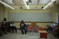 Poet Bianca Spriggs visited an American poetry class on Feb. 13.