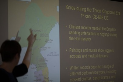 A lecture on the History of South Korean Theater was held Feb. 15 as part of the International Year of South Korea.