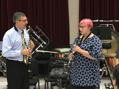 WKU professor John Cipolla worked with University of North Carolina at Greensboro student Kate Serbinowski during a masterclass.