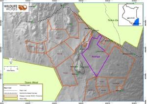 Map of Rukinga Ranch and Kasigau Corridor