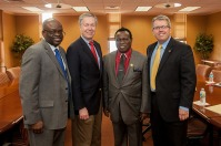Representatives of Adeleke University in Nigeria visited WKU on Feb. 27.