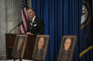 WKU President Gary A. Ransdell delivered remarks at the 2017 Kentucky Teacher Hall of Fame induction March 8 at the Capitol in Frankfort.