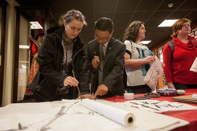 "The Confucius Institute at WKU hosted the grand opening of ""Exposing Chinese Culture to the World through Art"" on March 22. The exhibit is on display through May 31."