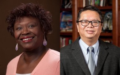 Dr. Saundra Curry Ardrey (left) and Dr. Kam C. (Johnny) Chan have been selected for Fulbright U.S. Scholar grants.