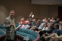 WKU President Gary A. Ransdell discussed the state's performance-based funding model during a forum on April 19.
