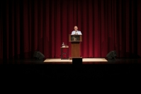 The 2016-17 Cultural Enhancement Series concluded April 22 with a presentation by David Sedaris.
