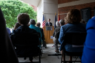 The dedication of Jody Richards Hall was held May 4.