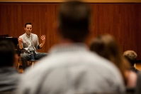 WKU graduate Bronson Murphy presented a master class on May 5.