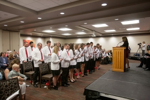 The Doctor of Physical Therapy program conducted its White Coat Ceremony on May 5.