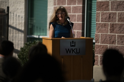 The Suzanne Vitale Clinical Education Complex hosted a thank you event for WKU President Gary A. Ransdell on May 9.