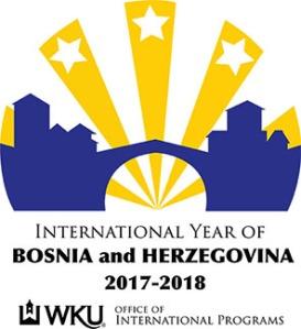The logo designed by WKU senior Nikki Gross will serve as the visual emblem for the International Year of Bosnia and Herzegovina.