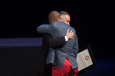 Michael P. Crowe Jr., director of the Office of Student Conduct, received the 16th Spirit of WKU Award