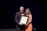 Dr. Nicole Breazeale, associate professor of Sociology at WKU Glasgow, was the recipient of the seventh annual President's Award for Sustainability
