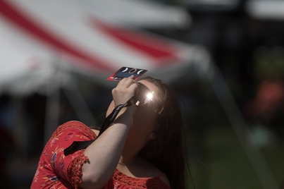 Scenes from total solar eclipse viewing Aug. 21 at WKU.