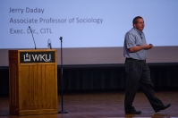 Jerry Daday presented Bosnia and Herzegovina 101 on Aug. 29 as part of the International Year of program.