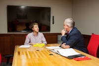 President Timothy C. Caboni hosted his first office hours for WKU students on Sept. 19.