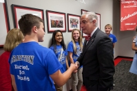 A Welcome Reception for President Timothy C. Caboni was held Sept. 20 at WKU Glasgow.