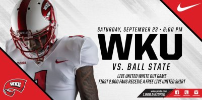WKU Football vs. Ball State on Sept. 23.